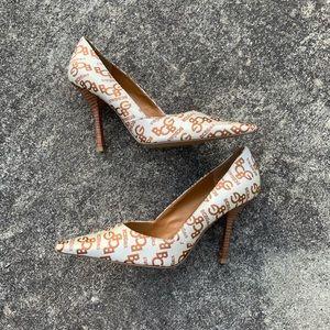 BCBGirls Monogram Pointed Toe stiletto Heels
